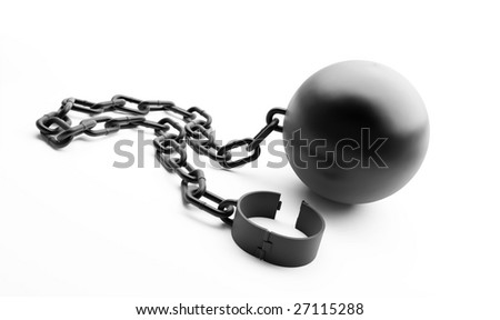 shackle on a white background - stock photo