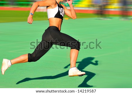 shade of a running - stock photo
