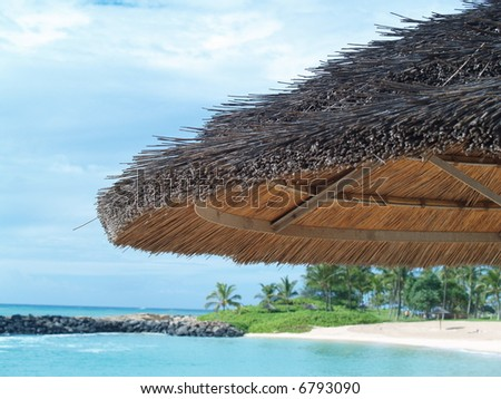 shade on a beach