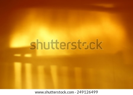Shadow blur stairs on golden wall - stock photo