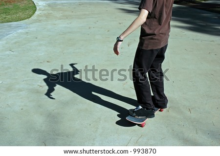 Shadow of a Skater - stock photo
