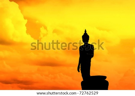 Shadow of Buddha image