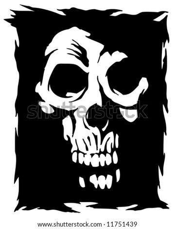 shadow skull image - stock photo