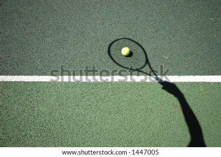 Shadow Tennis - stock photo