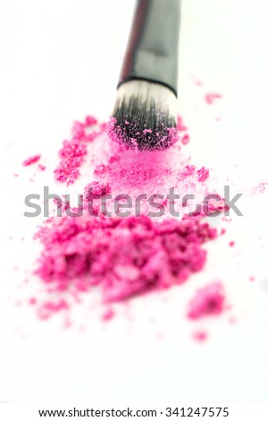 shadows and makeup brush