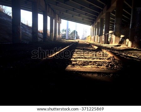 Shadowy railroad