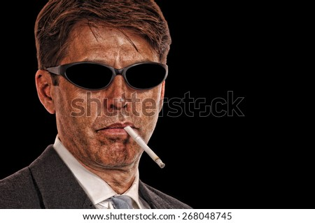 Shady Attorney with sunglasses - stock photo