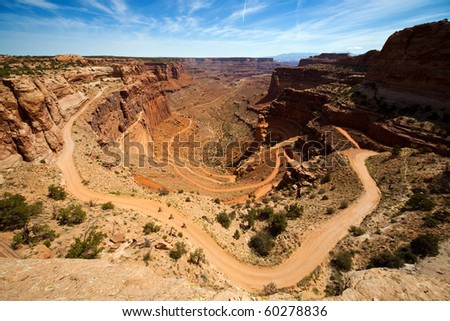 Shafer Trail Switchbacks - stock photo