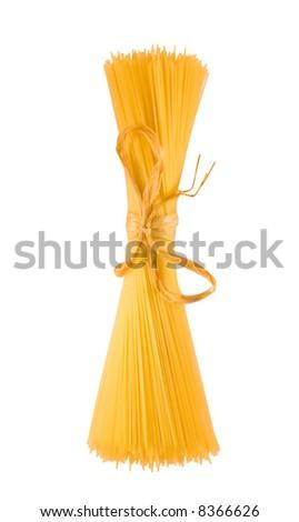 shaft of spaghetti,isolated on white background - stock photo