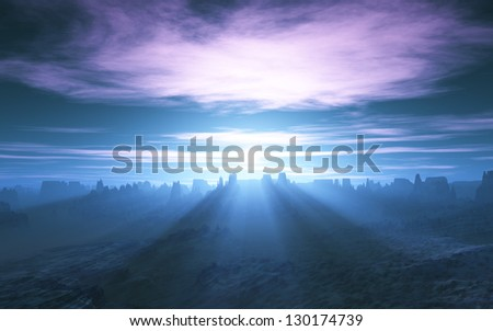 Shafts of Sunlight - stock photo