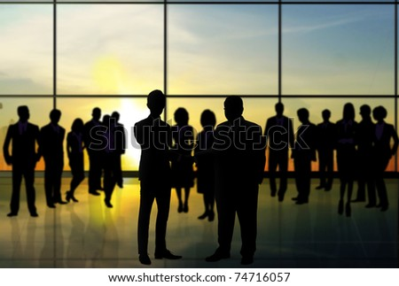 Shake  businesses - stock photo