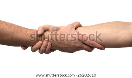Shake hands isolated on white background
