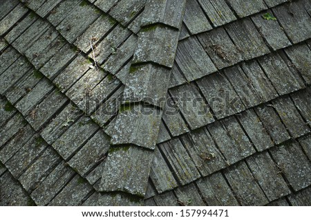 Shake Roof - stock photo