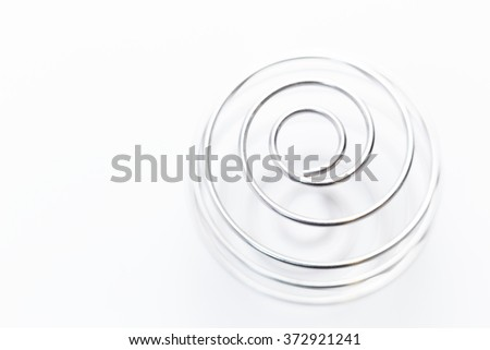 shaker for sports food and vitamins isolated white background - very soft focus