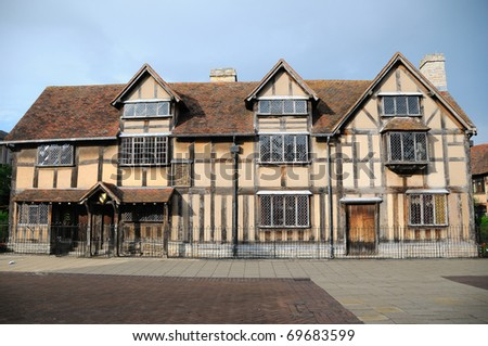 Shakespeare's birthplace - England - stock photo
