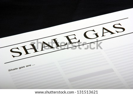 Shale Gas document - stock photo