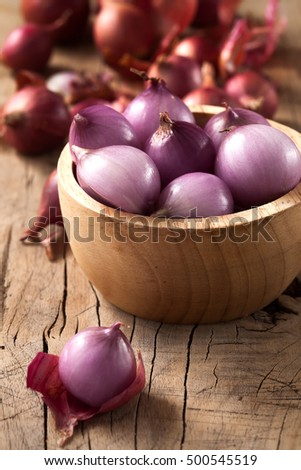 shallots still life wood background onion bulb season herb vegetable ingredient