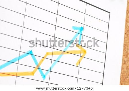 shallow dof, business chart - stock photo