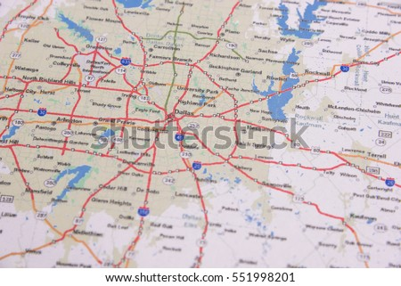 Dallas Map Stock Images RoyaltyFree Images Vectors Shutterstock - Us map dallas