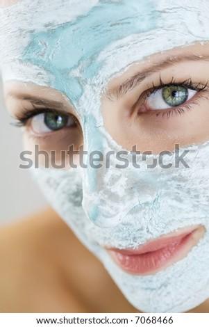 shallow dof, focus on front eye - stock photo