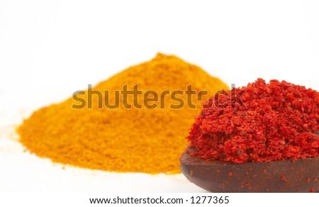 shallow dof, spicy - stock photo