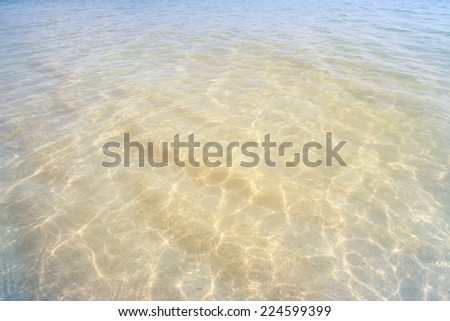 shallow sea surface with waves - stock photo