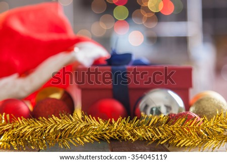 Shalow depth of field on christmas decoration - stock photo