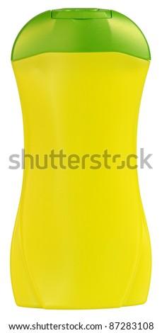Shampoo bottle. Isolated - stock photo