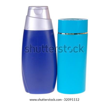 shampoo isolated on white background - stock photo