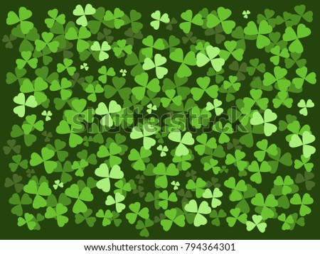 Shamrock, clover background. With border. Ideal St Patrick's Day etc.