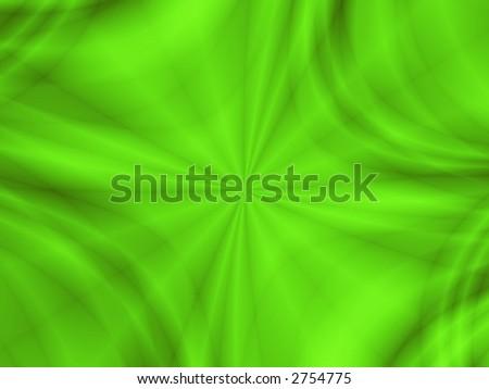 shamrock fractal - stock photo