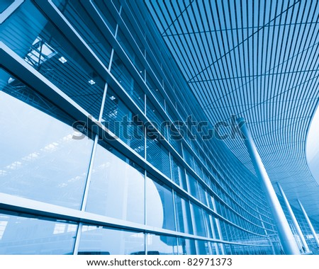 Shanghai Airport Background - stock photo