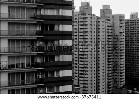Shanghai Apartment blocks - stock photo