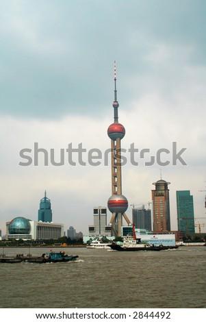 shanghai china - stock photo