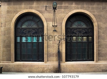 Shanghai, China, ancient buildings of the Bund - stock photo