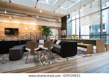 Amazing Shanghai,China   JUN.18,2016: Interior Of SOHO Office Lobby U0026