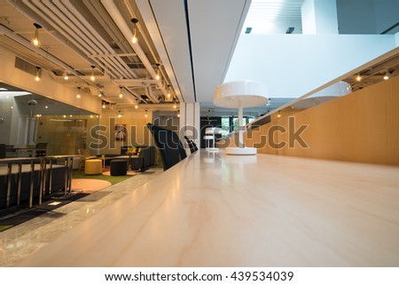Shanghai,China - JUN.18,2016: Interior of SOHO office Lobby & meeting room in shanghai, China.