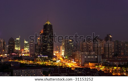 Shanghai city by night