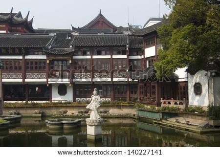 Shanghai City God Temple Yuyuan Garden(Built in 1559) - stock photo