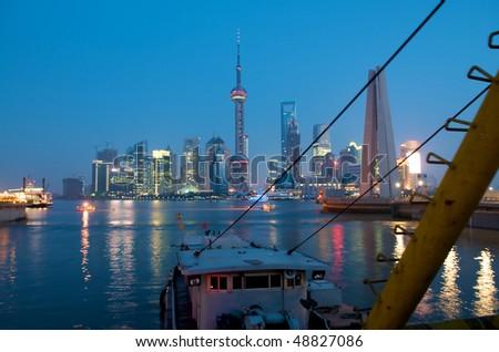 Shanghai Harbor - stock photo
