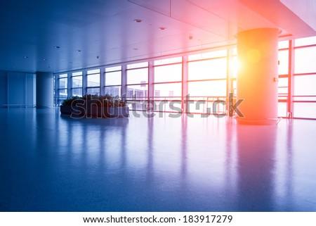 Shanghai Hongqiao Airport, airport travel - stock photo