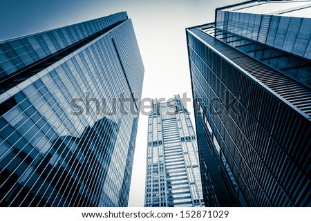 Shanghai Lujiazui business district - stock photo