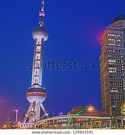 Shanghai night - stock photo