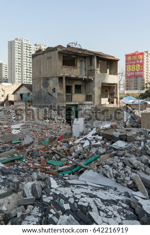SHANGHAI 2012: Old area building broken down for new construction
