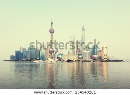 Shanghai skyline, China - stock photo