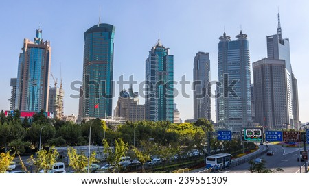 Shanghai Skyline. Shanghai is the largest Chinese city by population and the largest city proper by population in the world.
