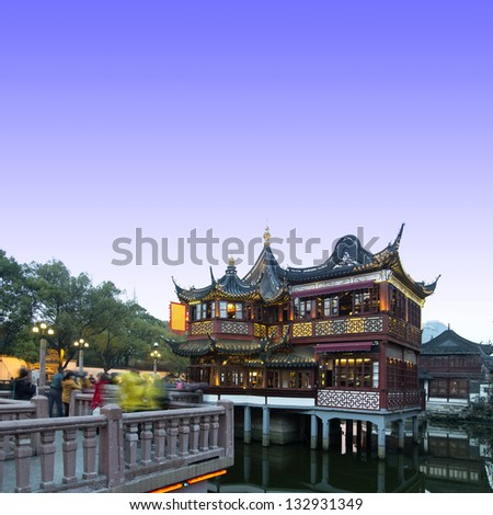 Shanghai Yuyuan(Built in 1559) - stock photo