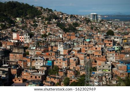Shanty town in Rio de Janeiro, Brazil - stock photo