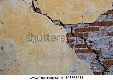 shape and form in the wall crack
