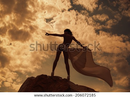 Shape of a woman - stock photo